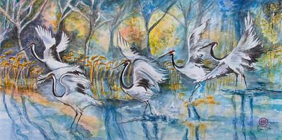 Five Cranes Landing