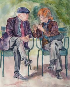 Conversation in Park