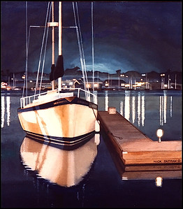 Night Sailboat