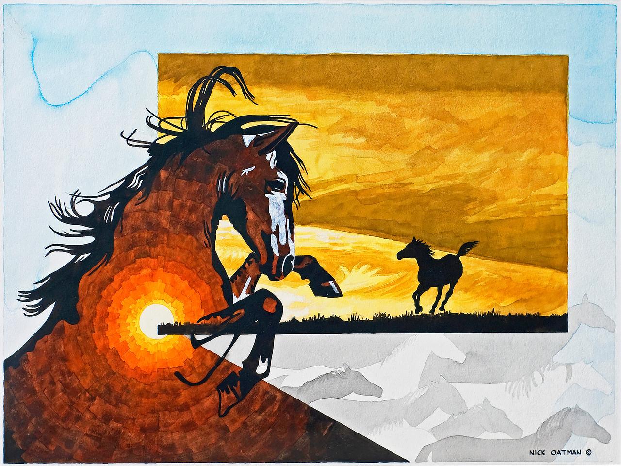 """""""Equus Theme"""" original"""