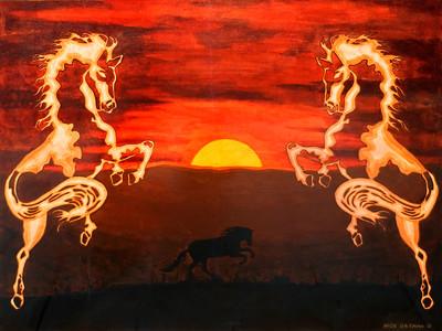 """Chinese Horses"" original"