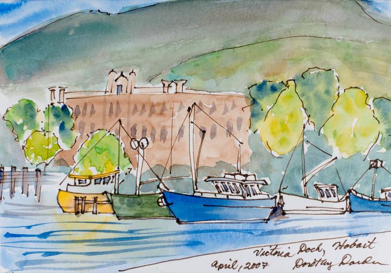 Fishing Boats in Hobart's Victoria Dock