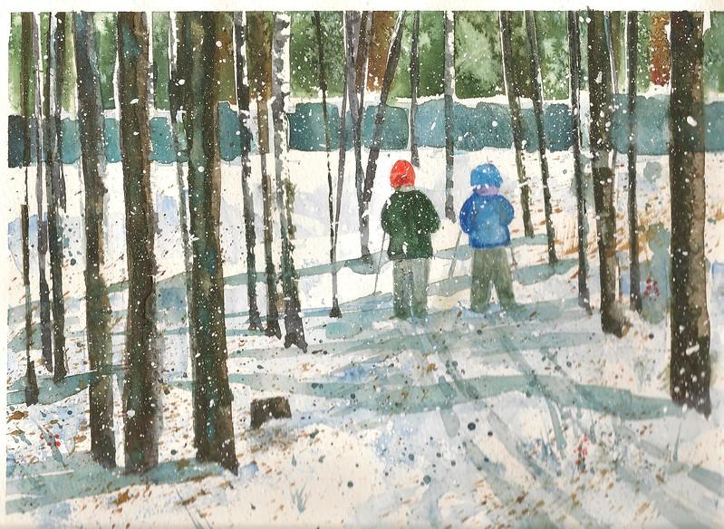 #102 Tiny Skiers