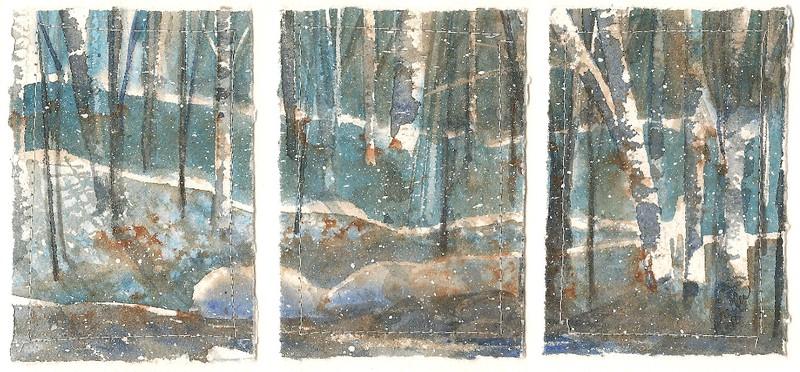 #96 Snowy Triptych