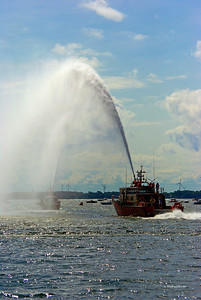 Fire Boat Water Arches