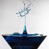 Martini glass Blue splash