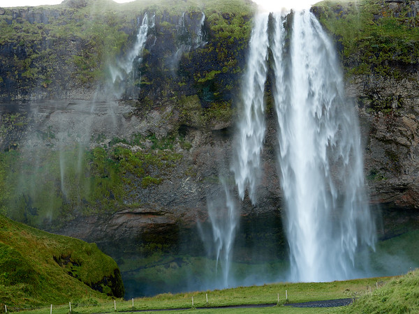 Seljalandsfoss is 66 meters tall