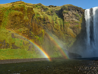 Skogafoss is 60 m tall and 25 m wide