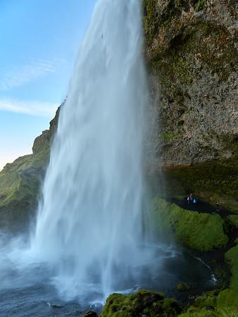 Behind Seljalandsfoss