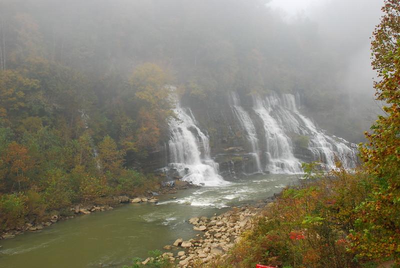 Foggy morning at Rock Island State Park, TN - Twin Falls