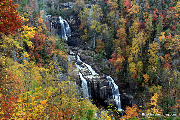 White Waterfalls near peak color?