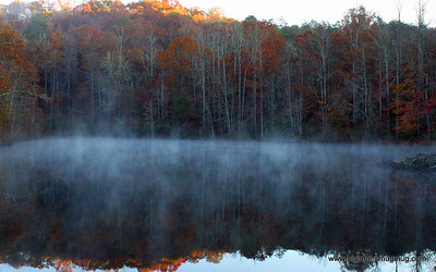 Pond off of hwy 11 in the early am.