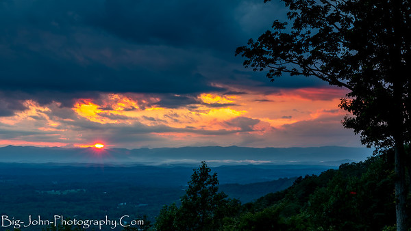 Paris Mountain Sunset