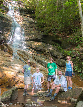 Jones Gap falls and Team Waterfall!