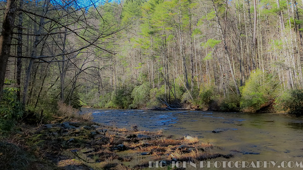 Ellicott Rock Wilderness area,  Chattooga River S.C. & G.A. line.
