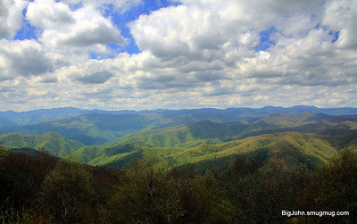 View of the SMNP from the Blue Ridge Parkway