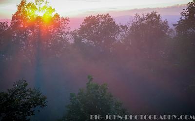 Sunset, Paris Mountain @ Greenville S.C.