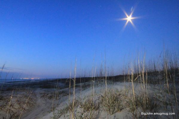 Moon over Cumberland Island