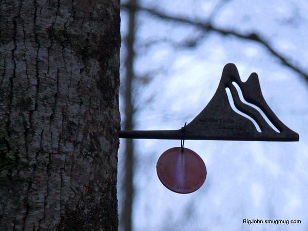 The Mountain Bridge trail sign!