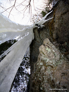 Ice looking up
