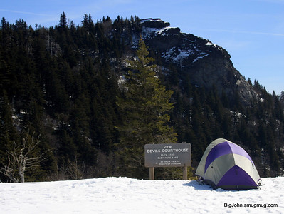 You cant just camp on the Blue Ridge Parkway! I guess they did not get the memo?