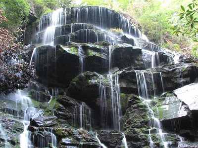 This is a 2006 picture of Yellow branch falls in the spring just to show the contrast