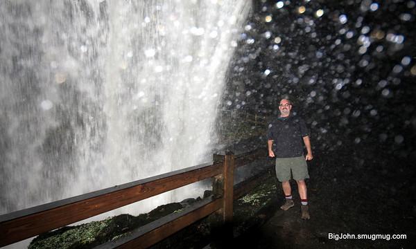 BigJohn getting wet at dry falls!