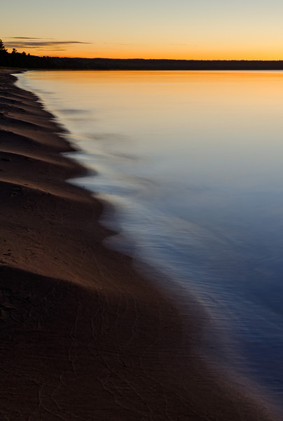 Sunset on Michigan's Lake Superior shoreline