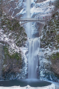 Multnomah Falls East of Portland, Oregon