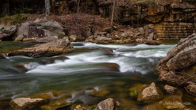 Glade Creek Rapids below Falls, Babcock State Park