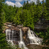 Blackwater Falls fr stairs & decks, W side of canyon
