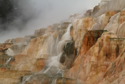 Mammoth Hot Springs including runoff, Yellowstone National Park, Wyoming