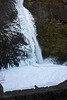 Horsetail Falls. There is no snow in this picture; it's all frozen spray.<br /> <br /> Photo by Dennis