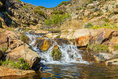 Secluded Waterfalls in the Mountains of San Diego County.