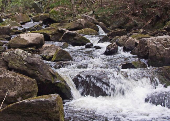 The cascades at Otis falls