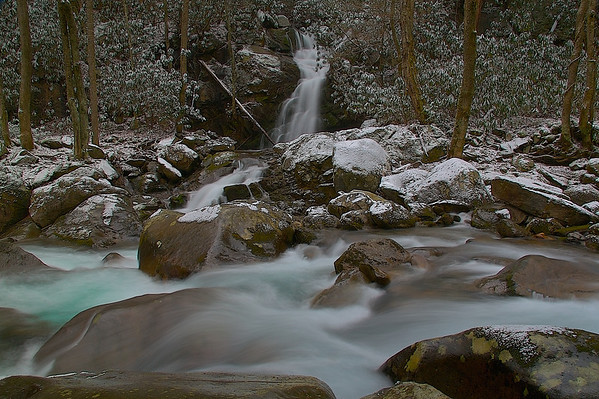 Mouse Creek Falls Snow