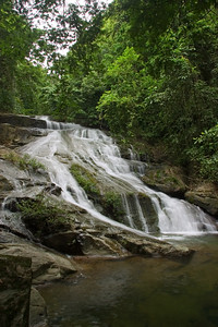 Lower Bocawina Falls at Mayflower Bocawina National Park.