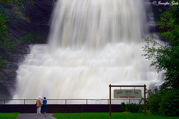 She-qua-ga Falls <br> Montour Falls, NY<br> <br> The falls after the rains from Hurricane Frances.
