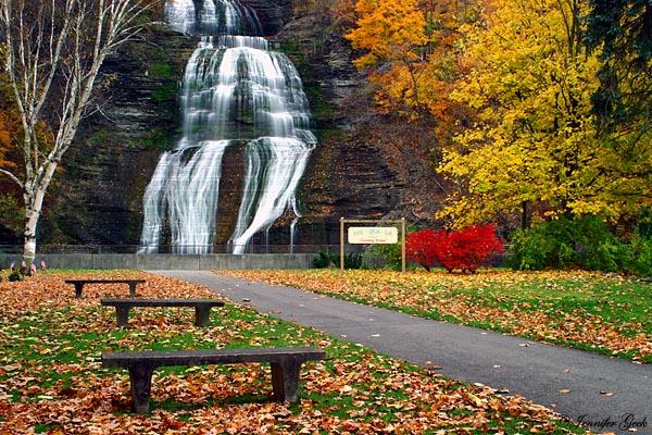 She-qua-ga Falls<br> Montour Falls, NY<br><br> October 27, 2004