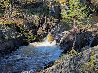 Gile Flowage Falls Area