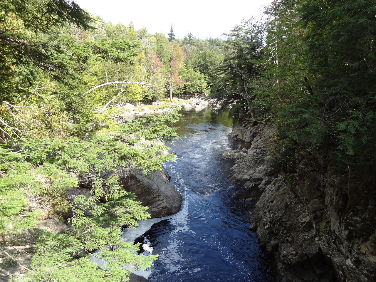 Downstream of the falls, we are back to normal again.