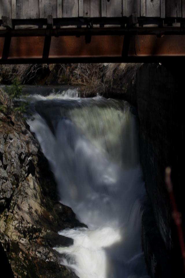 Scenic waterfall at Falls Inn