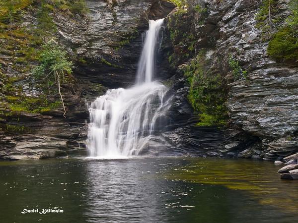 Storforsen's flowing water