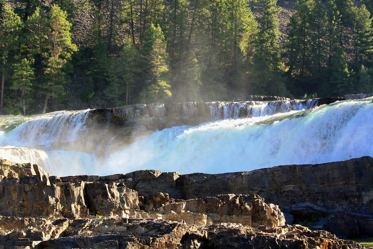 Kootenai Falls is located on the Kootenai River between Libby and Troy, Montana. It is easily accessed from Hwy. 2.