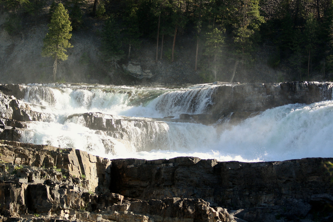 Kootenai Falls is located on Hwy. 2 between Libby and Troy, Montana. It is Montana's largest un-harnessed falls.