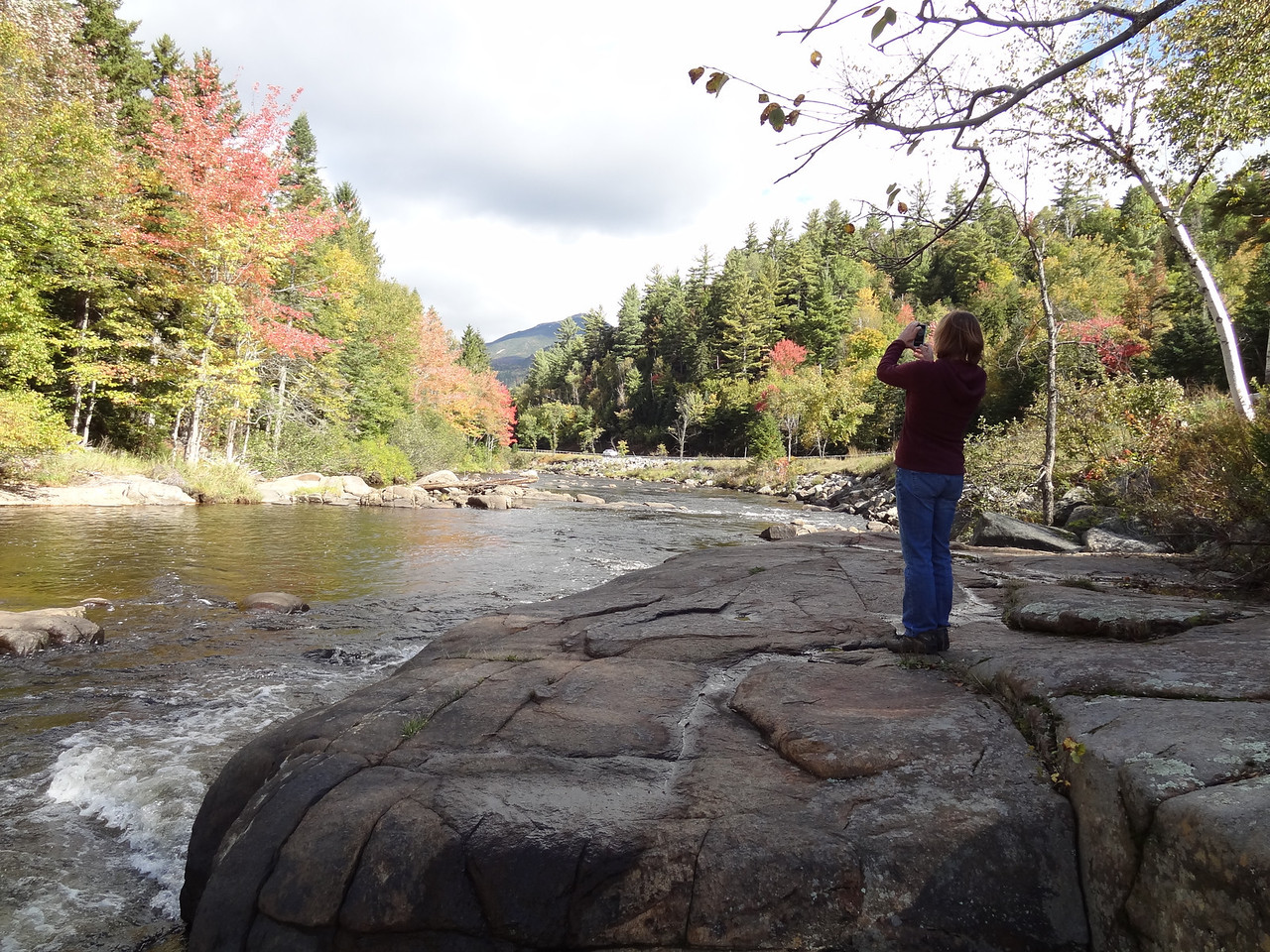 Downstream, you can see Whiteface mountain: home to the 1932 and 1980 Olympic ski events.