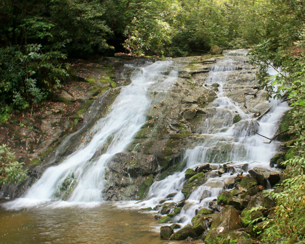 Another picture of Indian Creek Falls located outside of Bryson City, NC slowing the speed down for the silky smooth water effects.