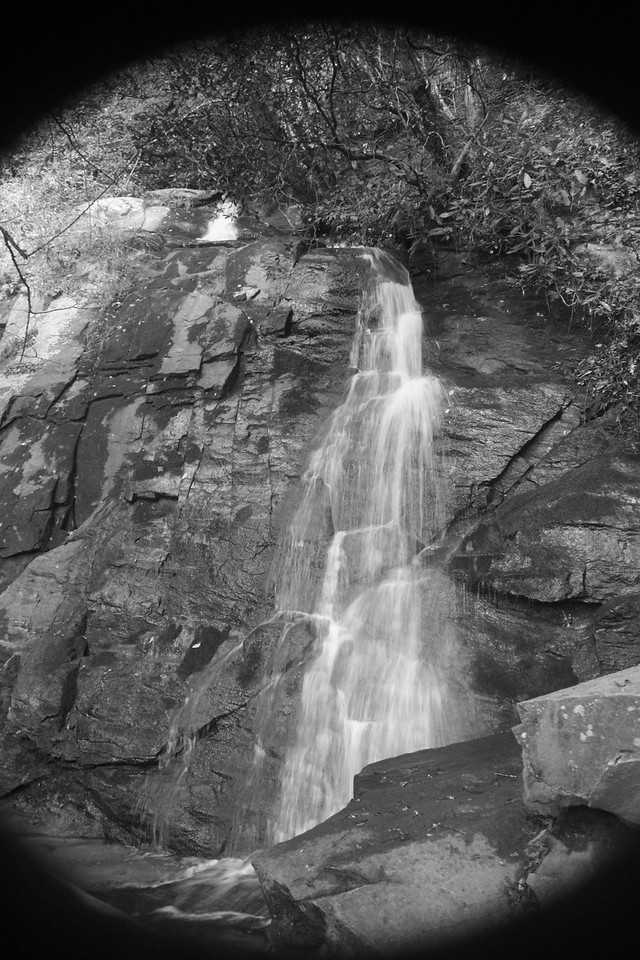 Juney Whank falls shown black and white.
