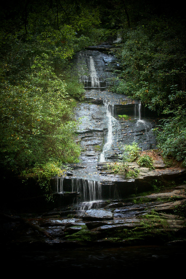 Tom Branch Falls, Smoky Mountain National Park, located just outside of Bryson City, North Carolina.