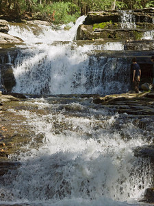 Umpacheene Falls, Berkshires, Massachusetts. Most of my photos suffered from glare and speckled sunlight!